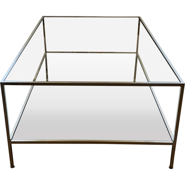 Gaudion Furniture Glass Coffee Table 1 x Gold Marianne Coffee Table Pre Order Item Glass & Gold Coffee Table Marianne