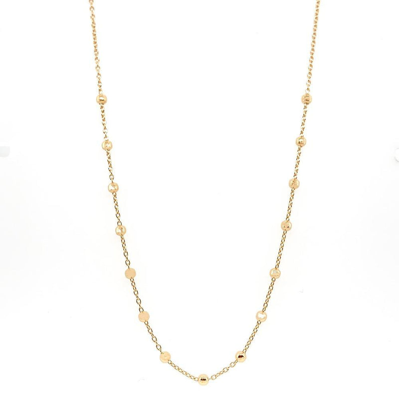 Gaudion Furniture Necklace 1 x Gold Ball Necklace Necklace Balls Silver or Gold