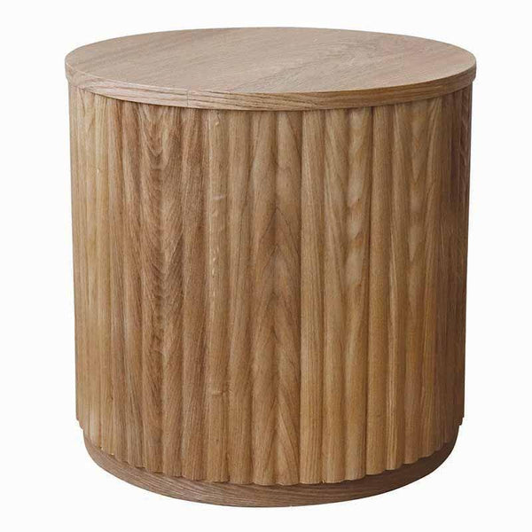 Gaudion Furniture Side Table Side Table Ribbed Oak