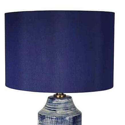 Gaudion Furniture Table Lamp Edwin Blue Lamp & Shade