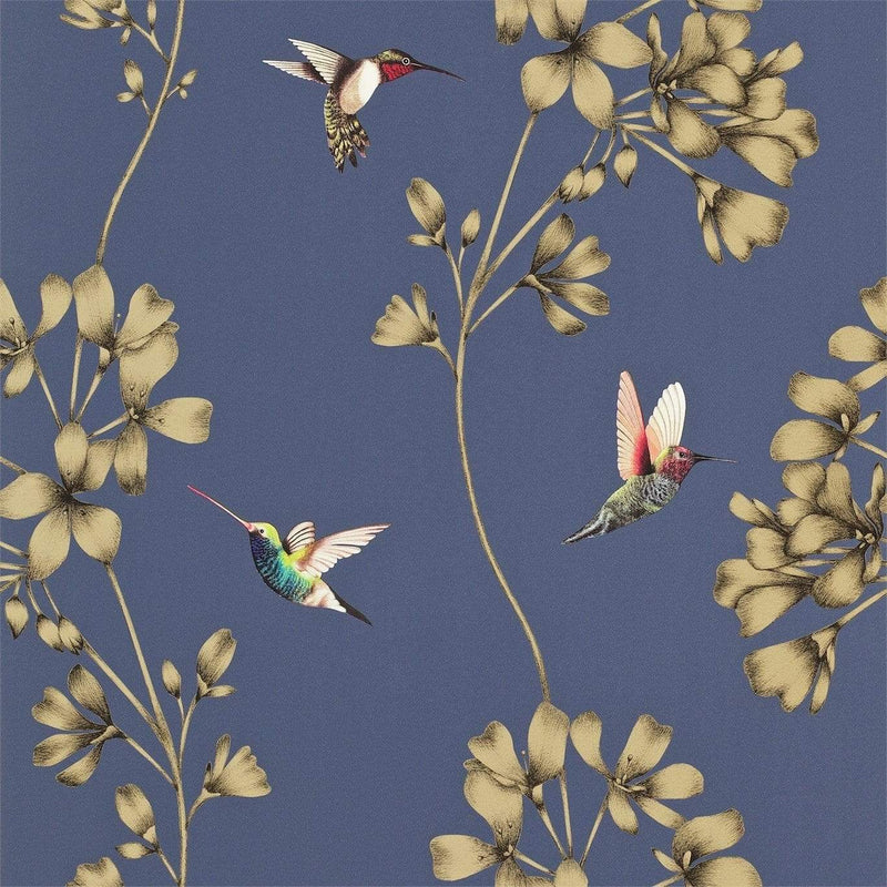 Gaudion Furniture Wallpaper 1 x Roll of Amazilia Indigo Wallpaper Harlequin Amazilia Wallpaper 6 colours