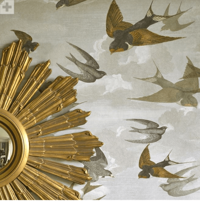 John Derian Wallpaper John Derian Chimney Swallows Wallpaper 4 Colours