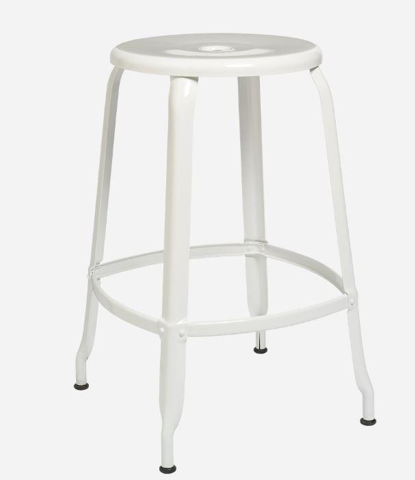 Nicolle Bar stools 1 x Nicolle Stool Glossy White 60 cm Nicolle Stool 60 cm 8 Colours