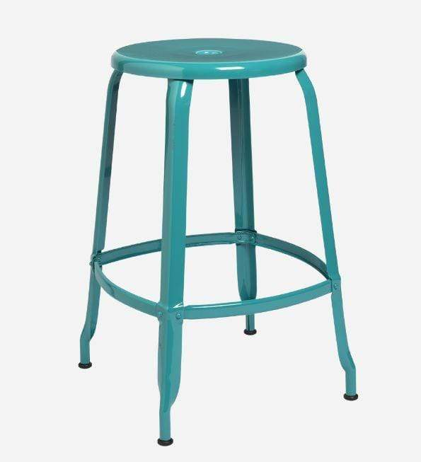 Nicolle Bar stools 1 x Nicolle Stool Turquoise Blue Glossy 60 cm Nicolle Stool 60 cm 8 Colours