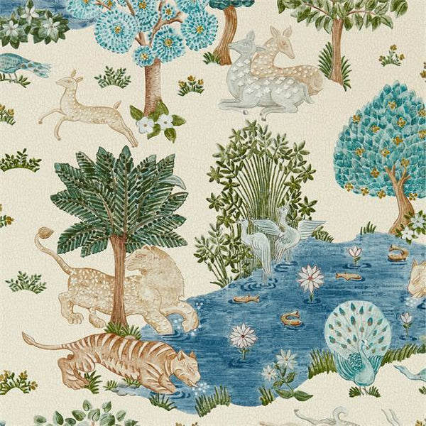 Sanderson Wallpaper 1 x Cream/Nettle Pamir Garden Wallpaper Roll Sanderson Pamir Garden Wallpaper 2 Colours