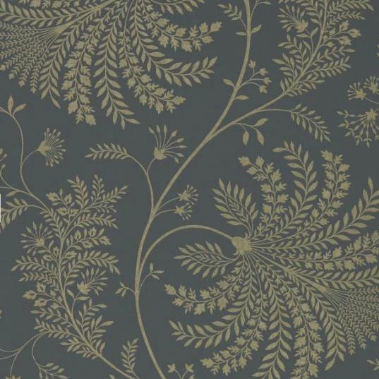 Sanderson Wallpaper 1 x Graphite/Gilver Mapperton Wallpaper Roll Sanderson Mapperton  Wallpaper 6 Colours
