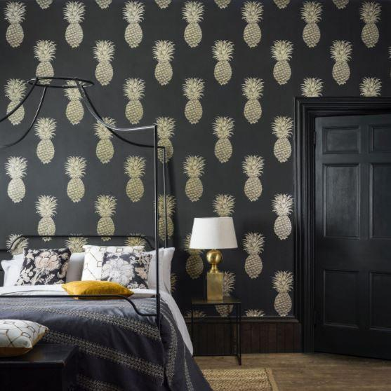 Sanderson Wallpaper Sanderson Pineapple Royale  Wallpaper 4 Colours
