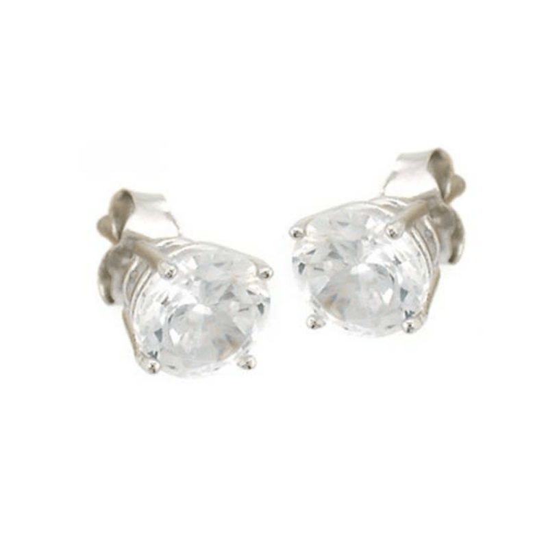Valentina Earrings Earrings Cubic Zirconia Studs Sterling Silver Medium
