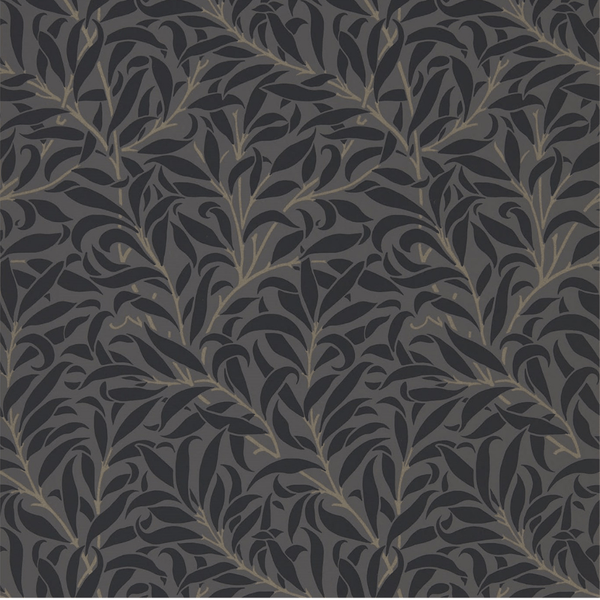 William Morris Wallpaper 1 x Charcoal Black Willow Bough Wallpaper Roll William Morris Pure Willow Bough Wallpaper 5 Colours