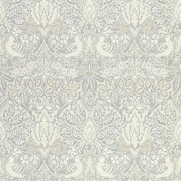 William Morris Wallpaper 1 x Cloud Grey Pure Dove and Rose Wallpaper Roll William Morris Pure Dove and Rose Wallpaper 3 Colours