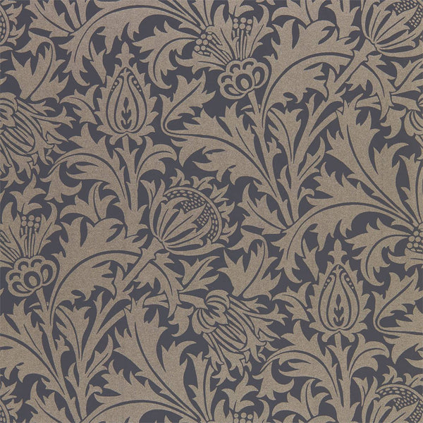 William Morris Wallpaper 1 x Roll of Black Ink Pure Thistle Wallpaper William MorrisPure Thistle Wallpaper 4 colours
