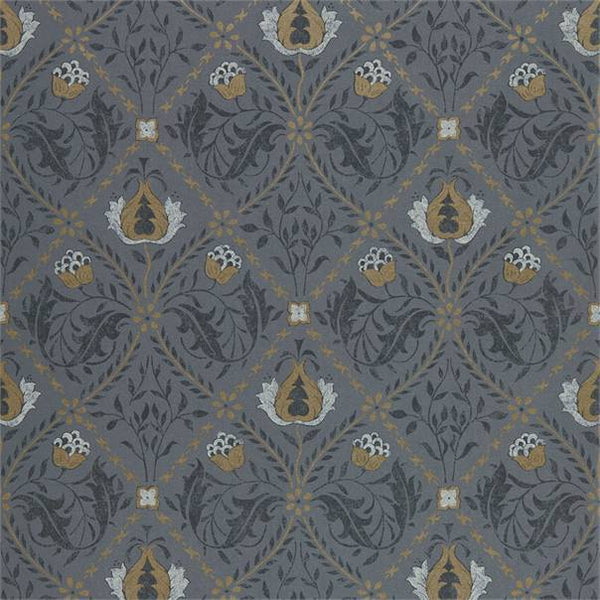 William Morris Wallpaper 1 x Roll of Black Ink Pure Trellis Wallpaper William Morris Pure Trellis Wallpaper 3 colours