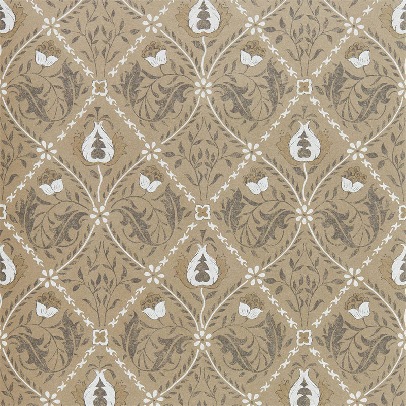William Morris Wallpaper 1 x Roll of Gold Pure Trellis Wallpaper William Morris Pure Trellis Wallpaper 3 colours