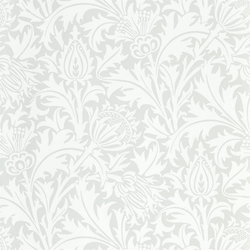 William Morris Wallpaper 1 x Roll of Grey Blue Pure Thistle Wallpaper William MorrisPure Thistle Wallpaper 4 colours