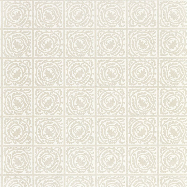 William Morris Wallpaper 1 x White Clover Pure Scroll Wallpaper Roll William Morris Pure Scroll Wallpaper 4 colours