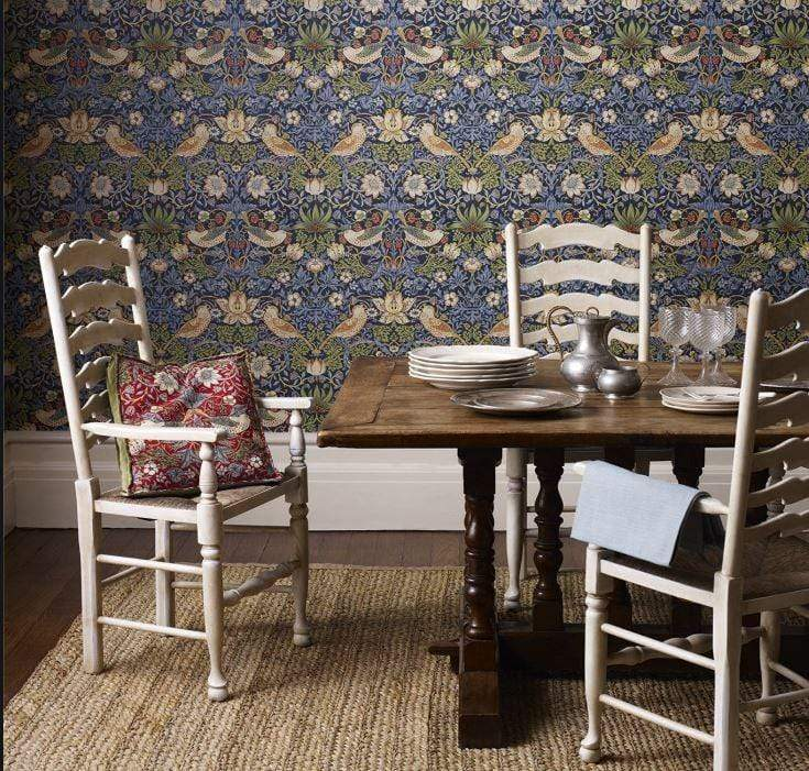William Morris Wallpaper William Morris Strawberry Thief Wallpaper