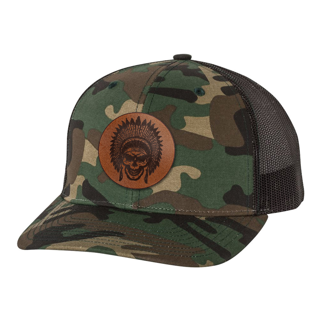 Leather Patch Goon Squad Hat - Army Camo/Black