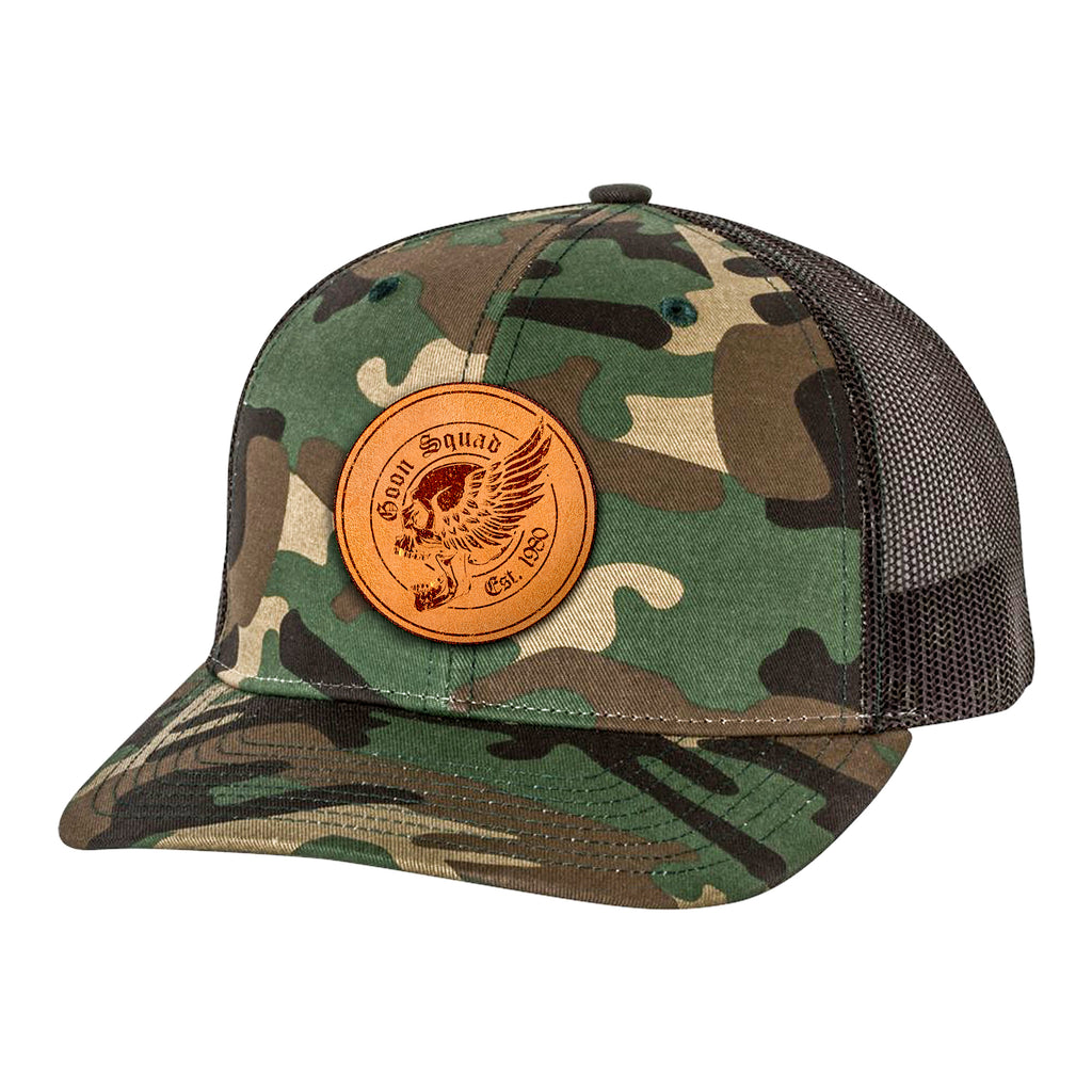 Leather Patch Goon Squad 2.0 Hat - Army Camo/Black