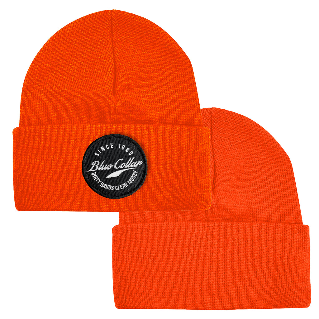 Blue Collar Beanie - Safety Orange