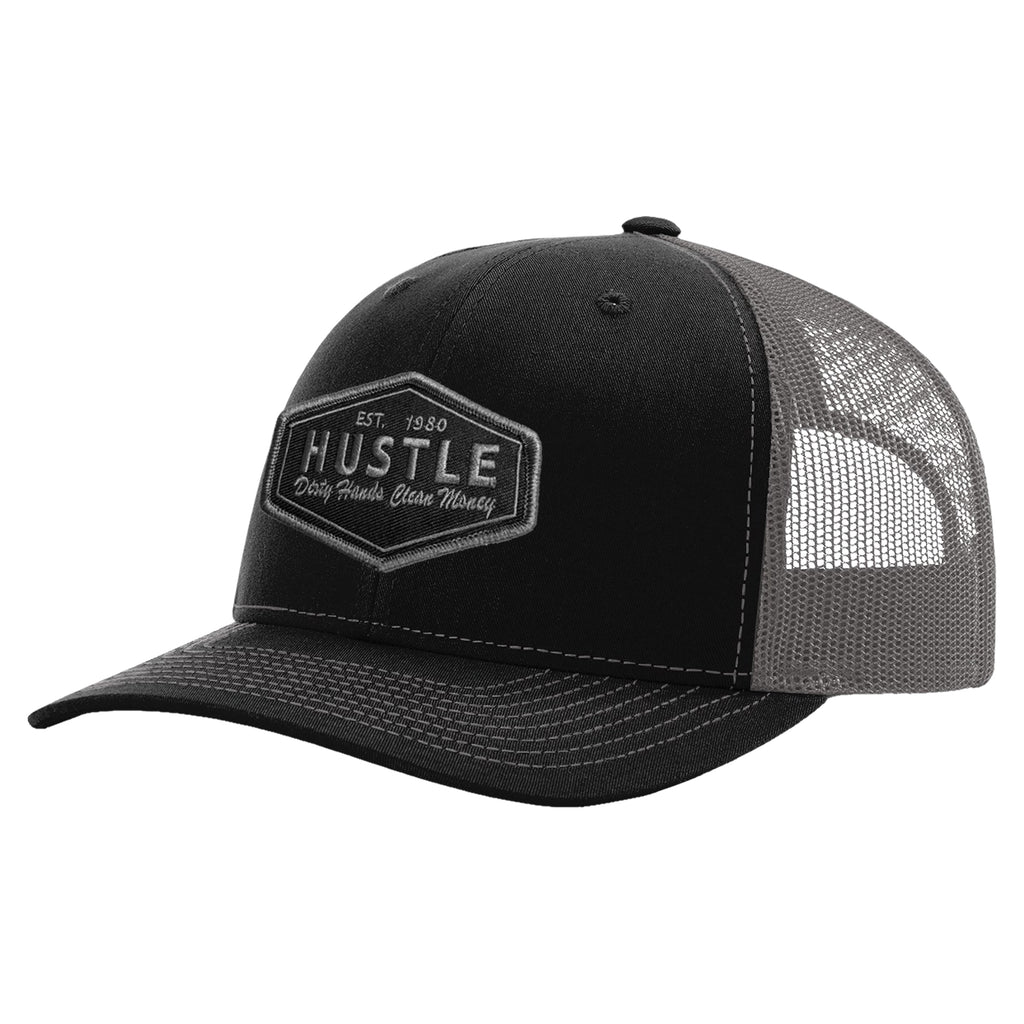 Hustle Grey/Black Patch Hat - Black/Grey