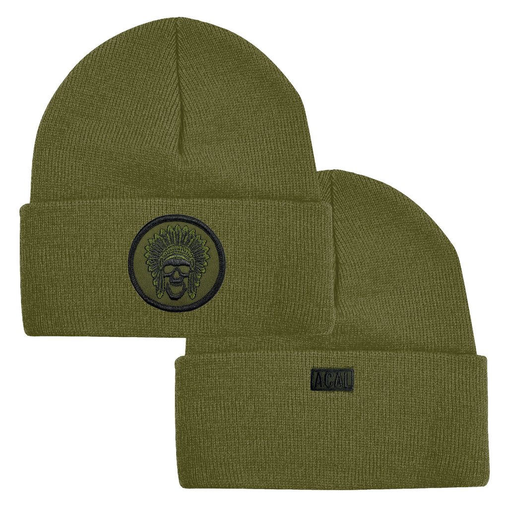 Green Goon Squad Beanie - Military Green