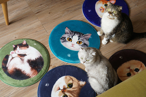 Miaoji MEWJI original round cute cat floor mat animal cushion cat carpet gift variety collection
