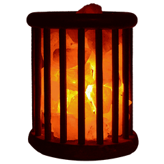 Giza - Himalayan Rock Salt Lamp with Wooden Basket