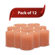 "Himalayan Salt Candle Holders 4"" with Candle Included - Pack of 12"