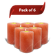 "Himalayan Salt Candle Holders 6"" with Candle Included - Pack of 6"