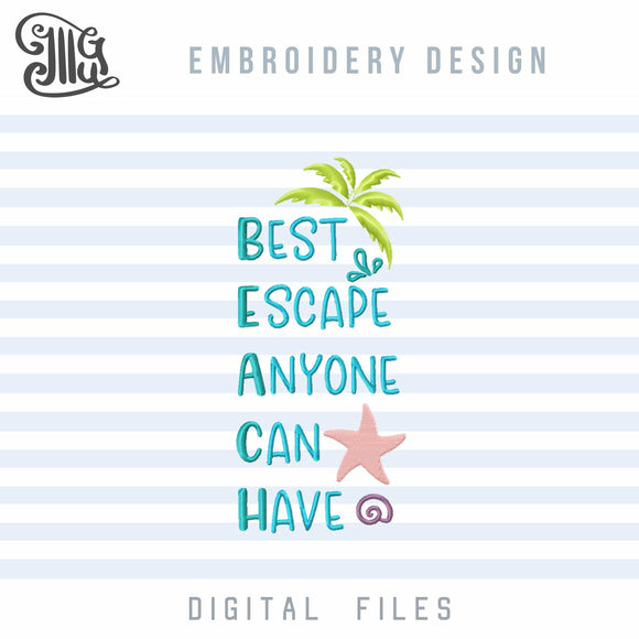 Beach Towels Embroidery designs | Summer embroidery patterns | Sea life embroidery files | Flamingo applique