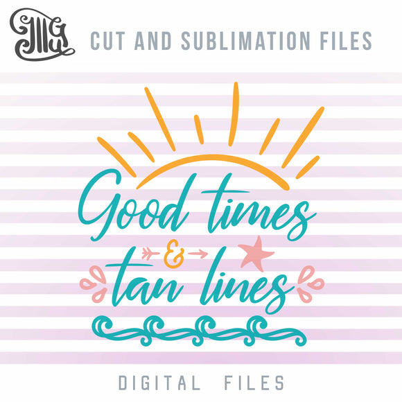 Summer SVG, PNG, EPS and DXF file formats for cutting and printing. FREE SVGs available! Beach, Travel cut files and sublimation designs