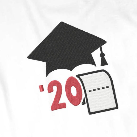 Graduation Cap 2020 Embroidery FREE, Senior Machine Embroidery Pes Designs for Shirt Embroidery, Class of 2020 Digital Embroidery-by Illustrator Guru