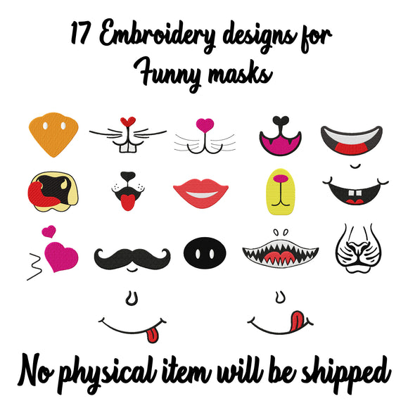 Mouth Mask Sewing Pattern, Cotton Mask Embroidery Designs, Surgical Mask Embroidery Design, Kids and Adults Mask Sewing Pattern Svg and PDF-by Illustrator Guru