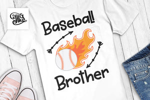 Baseball With Flames Svg for Baseball Brother, baseball svg-by Illustrator Guru