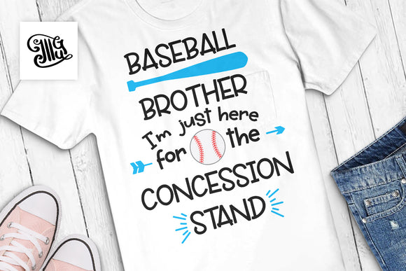 Baseball Brother SVG Cutting Files, Baseball Bat Clipart, Baseball Sayings PNG for Sublimation, Concession Stand Clip Art, Baseball SVG Files, Funny Brother Shirt SVG, Sport SVG-by Illustrator Guru