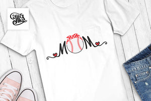 Baseball Svg Free Files for Mom Baseball Shirt and Cap-by Illustrator Guru