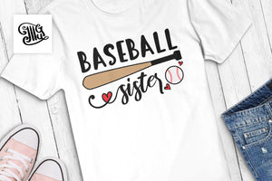 Baseball sister SVG for sister baseball shirts and hats, baseball svg-by Illustrator Guru