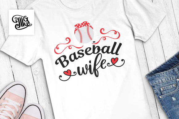 Baseball wife SVG for baseball shirts nad hats, baseball svg-by Illustrator Guru