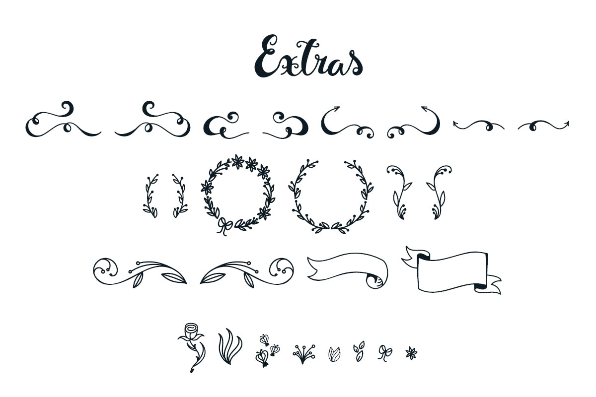Free font download with swirls, banners and ornaments-by Illustrator Guru