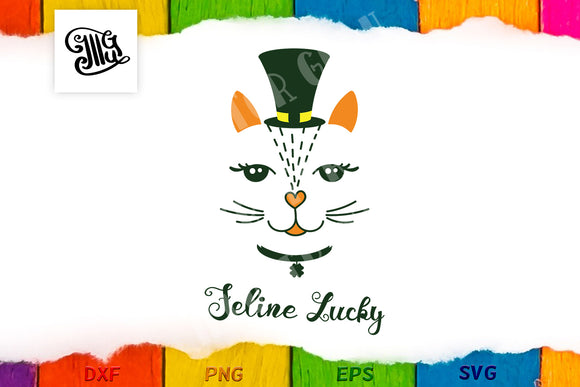 Feline Lucky pun for St Patricks Day-by Illustrator Guru
