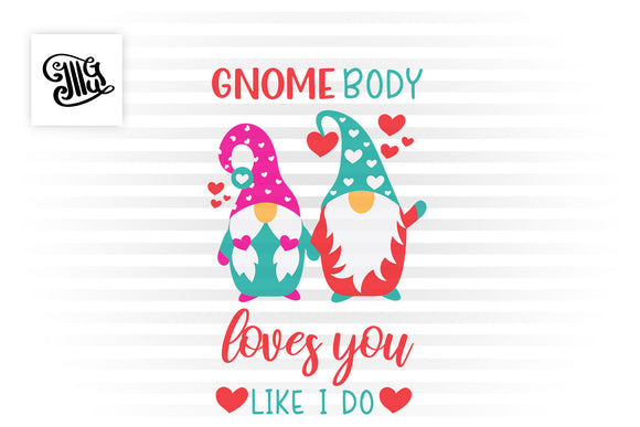 Valentine gnome svg free for DIY valentine cards printable-by Illustrator Guru