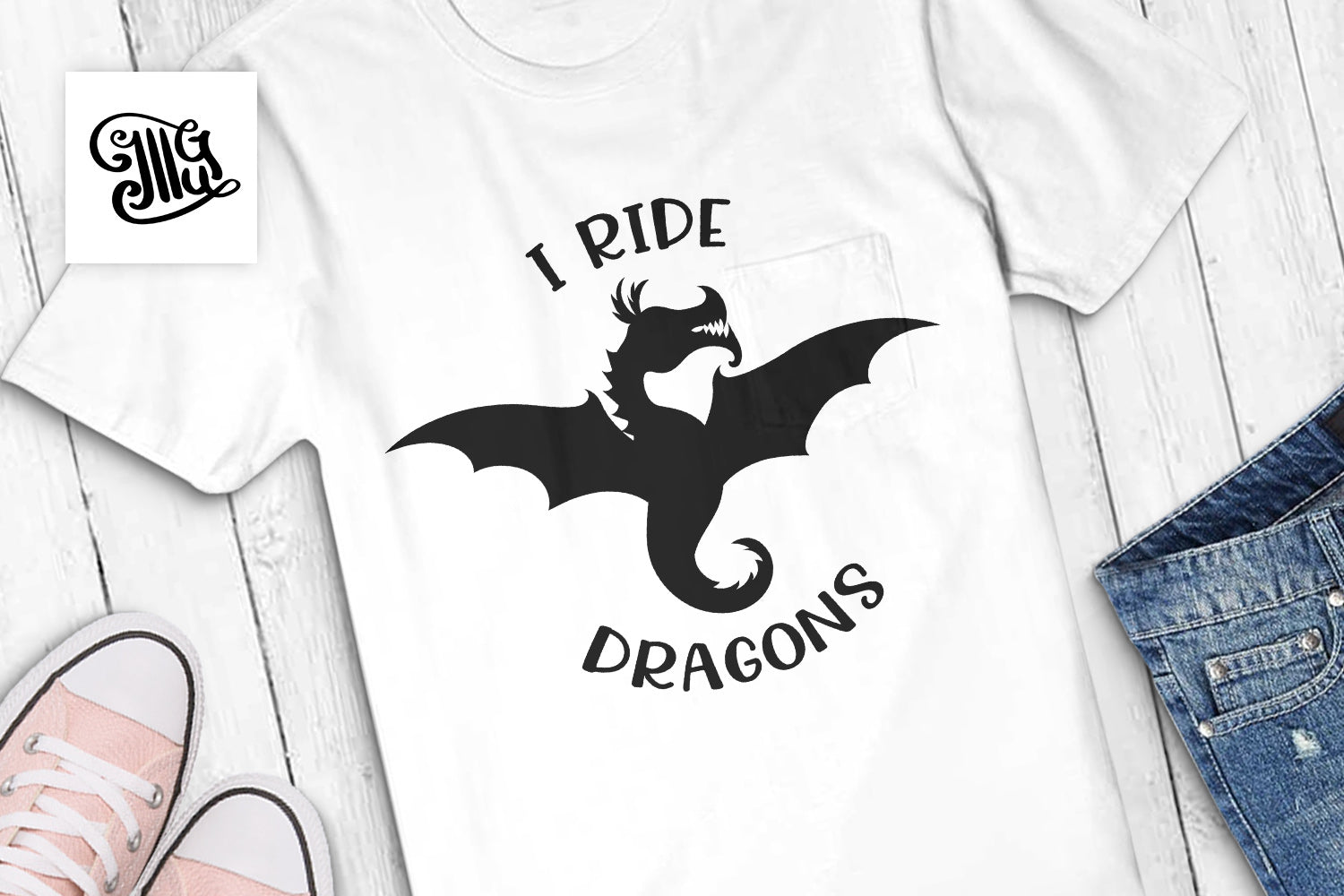 I ride dragons svg-by Illustrator Guru
