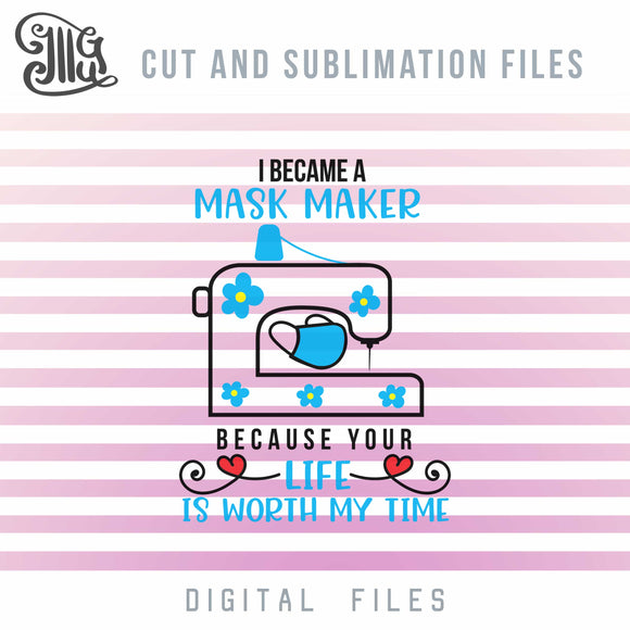 Mask Maker Svg Files, Sewing Machine Svg Cut Files, Sewist Sublimation, Tailor Clipart, Seamstress Dxf Cut Files-by Illustrator Guru