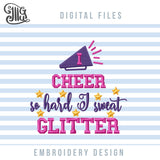 Cheer Machine Embroidery Designs Bundle for Masks, Cheerleading Face Masks Embroidery Patterns, Cheer Uniform Embroidery Files, Cheerleader Shirt Pes Files, Cheer Mom Cap Embroidery, Cheer Embroidery, Megaphone Embroidery, Cheer Bow Embroidery-by Illustrator Guru