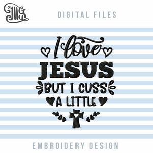 Religious Embroidery Designs, Jesus Embroidery Patterns, Crosses Embroidery Files, Christian Sayings Embroidery, Love Quotes Embroidery, Heart Embroidery, Shirt Embroidery-by Illustrator Guru