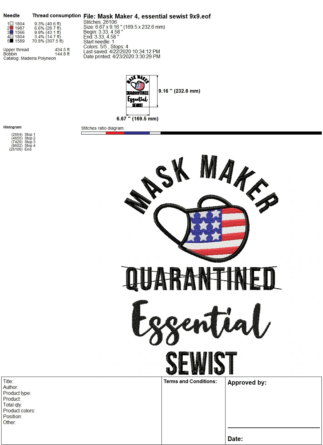 Mask Maker Embroidery Designs, Sewist Embroidery Pattern