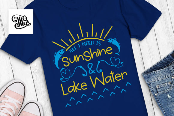 Sunshine and lake water svg | Southern SVG | Camping SVG | Kids svg-by Illustrator Guru