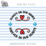 Grief Machine Embroidery Designs, Christmas in Loving Memory Embroidery Patterns, Christmas Ornaments Embroidery Files, Memorial Pes Files, Loss Embroidery Shirts, Sympathy Embroidery Jef-by Illustrator Guru