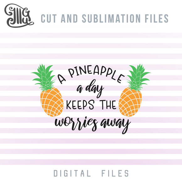 Pineapple Silhouette SVG, Gold Pineapple Clipart, Tropical Pineapple PNG, Pineapple Decal SVG, Summer Sublimation Images, Tropical Vacation SVG Cut Files, Tropical SVG, Pineapple SVG-by Illustrator Guru