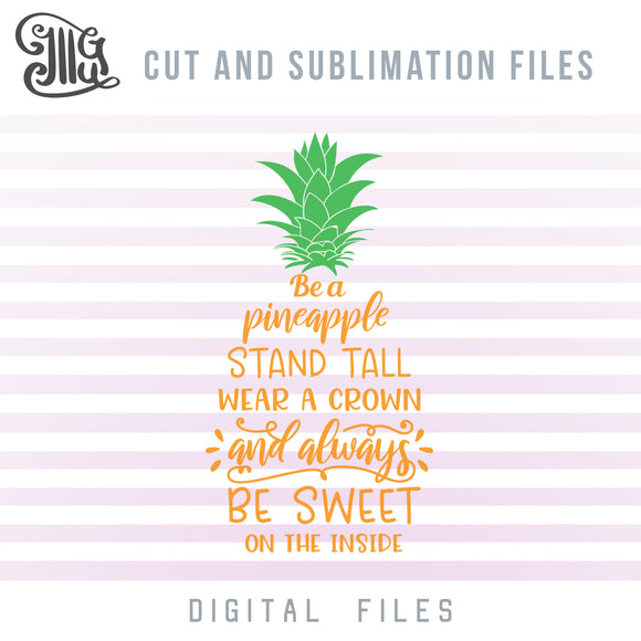 Pineapple Crown SVG, Pineapple Clipart Black and White, Golden Pineapple PNG, Tropical SVG Cut Files, Summer SVG Files, Pineapple Decal SVG, Pineapple Quote SVG,-by Illustrator Guru